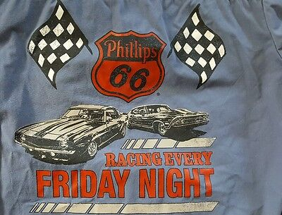 Phillips 66 Racing Every Friday Night Long Sleeve Button Front Racing Shirt - L