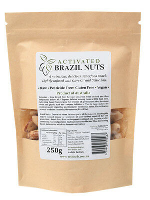 Raw Activated Brazil Nuts 250g - Actifoods