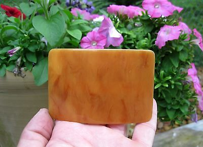 """Vtg New Large Butterscotch Tortoise Shell Hair Barrette French Clip 3 1/4"""" Nos"""