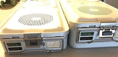 Aesculap 78532 Aluminum Sterilization Cases Tray Containers Medical Lot Of 2