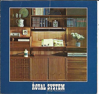 Mid Century Royal System Furniture Sales Brochure - Design Poul Cadovius