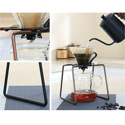 Filter Stand Coffee Dripper Rack Pour Over Drip Holder Manual Tool Bronze