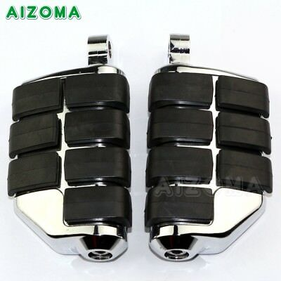 2X Motorcycle Control Male-Mount Foot Pegs Footrest Padals For Bobber Chopper
