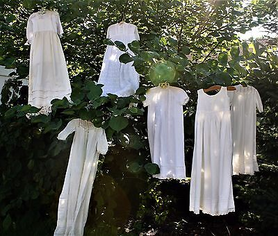 6 Vintage/antique  Long Baby Gowns For Christening, Blessing, Pictures, Display.