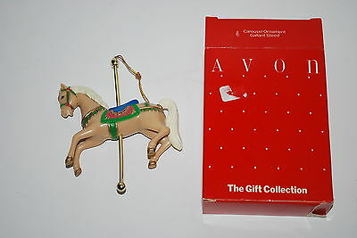 Avon Gift Collection Christmas  Ornament  Gallant Steed - Carousel - NICE