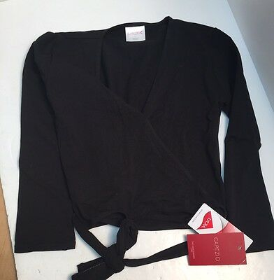 Capezio Dance Wrap Black Small Women's Long Sleeve Ballet New With Tags