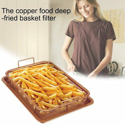 Hot Gotham Steel Copper Crisper Tray - AIR FRY IN YOUR OVEN - As Seen on TV -!