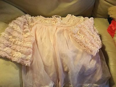Vintage Lace And Nylon Bed Jacket Pink Very Pretty About An 8