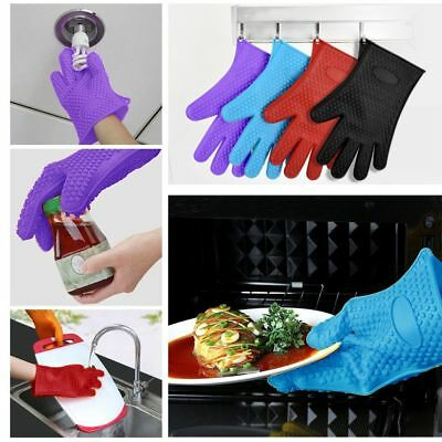 Silicone Heat Resistant Thick Kitchen Barbecue Cook BBQ Practical Oven Glove
