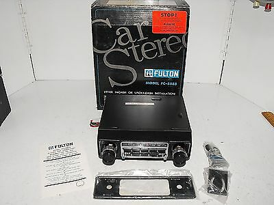 Classic Vintage Fulton In Dash Or Under Dash AM-FM Car Stereo Cassette Brand New