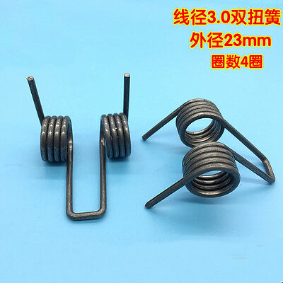 Double Torsion Springs 3mm Wire Diameter 23mm OD 30mm L Strong Rotating Spring