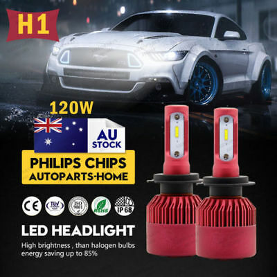 2X H1 9003 252W 25200LM LED Headlight kit Bulbs Low Beam 6500K High Bright