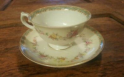 Vintage Cherry China Cup and Saucer Made in Occupied Japan