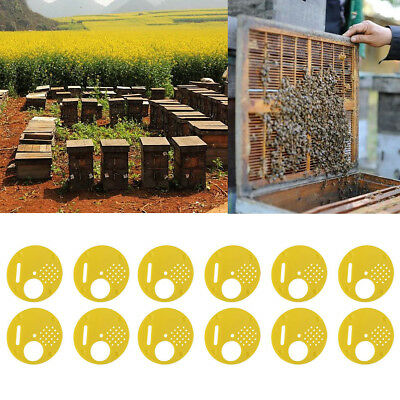 12pcs Plastic Beekeepers Bee Hive Nuc Box Entrance Gates Beekeeping Equipment