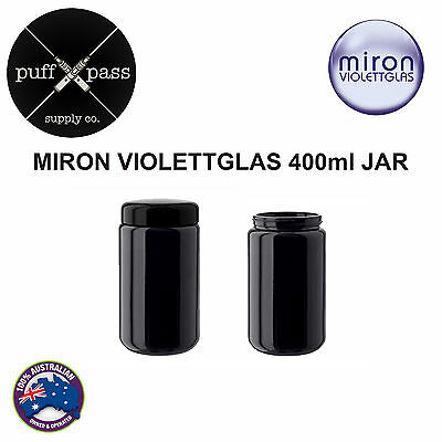 MIRON VIOLETTGALS - VIOLET GLASS JAR WITH LID 400ml - ANTI AGEING JAR - HERB JAR