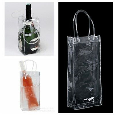 Champagne Drink PVC Wine Beer  Ice Bag Bottle Cooler Chiller For Parties Picnics