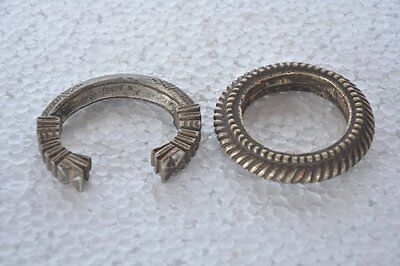 2 Pc Old Brass Handcrafted Unique Engraved Tribal Bangles / Bracelets