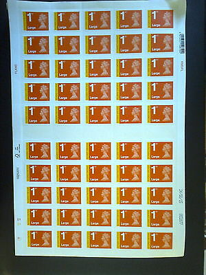 50 Royal Mail 1st Class RECORDED SIGNED FOR LARGE Stamps Brand New, save 10%