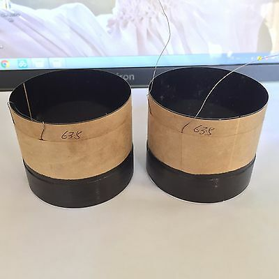 2pcs 63.5mm 2.5/' inch Black Aluminous Bass Loudspeaker Woofer Speaker Voice Coil