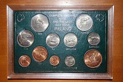 Ireland Complete Decimal Issue and the Last £.s.d. Issue in Hard Plastic Case