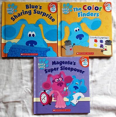 3 BLUE'S CLUES PLAY TO LEARN SERIES BOOKS Bulk Lot
