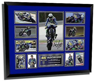 Valentino Rossi Movistar Motogp 2017 Signed Limited Edition Framed Memorabilia
