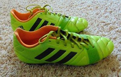 0d3b487a0844 Mens Boys Adidas Nitrocharge 3.0 Green   Orange Soccer Cleats Shoes-size 7.5