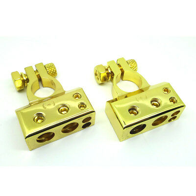 Set Positive & Negative Battery Terminal Connectors 0 2 4 8 Awg Gauge N P Pair T