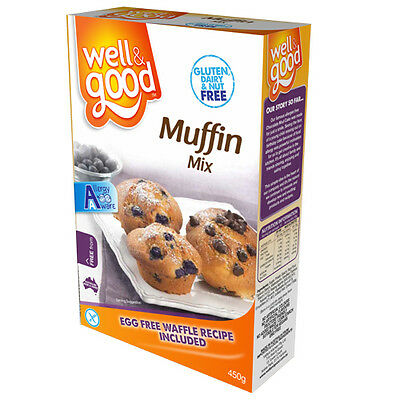 Gluten Free Muffin Mix - Well and Good - 5 x 450g Packs