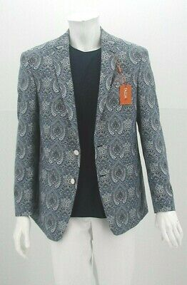 Retail $295.00 NOW $149.99 Blue & White Paisley Tallia 2B Sport Coat