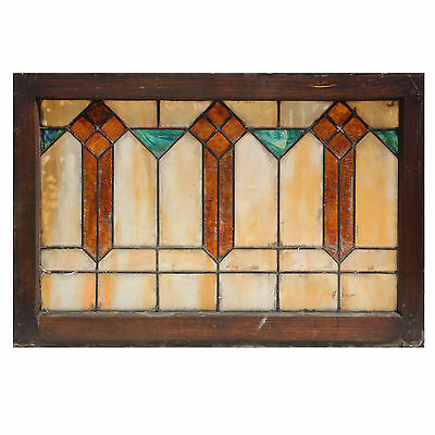 Antique Arts and Crafts American Stained Glass Window, c. Early 1900's, NSG172