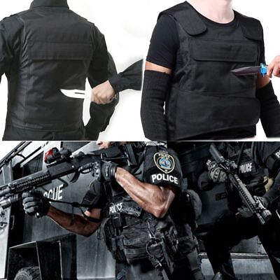 Blk Anti Stab Vest Men Vest Stabproof Anti-knifed Security Defense Body Armour