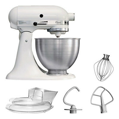 KitchenAid 5KSM45EWH Küchenmaschine 4,3L Factory Serviced Weiß