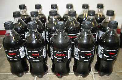 SHARE A COKE ZERO NAME 20 OZ BOTTLES  2014 First Year of U.S. Series Unopened