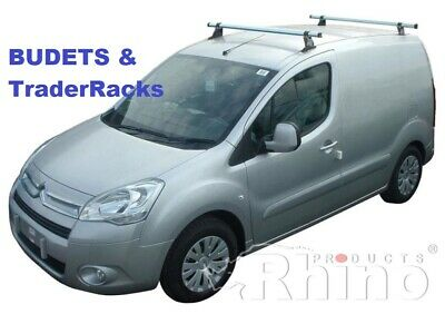 Citroen Berlingo Roof Rack Bars 2008 - 2018 2 Bar Rhino Delta Van Ladder Racks