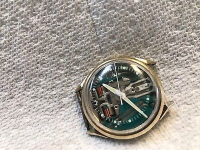 bulova accutron spaceview Gold Plated Watch