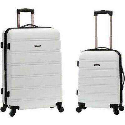 New Rockland Luggage Melbourne 2-Piece Expandable ABS Spinner Luggage Set