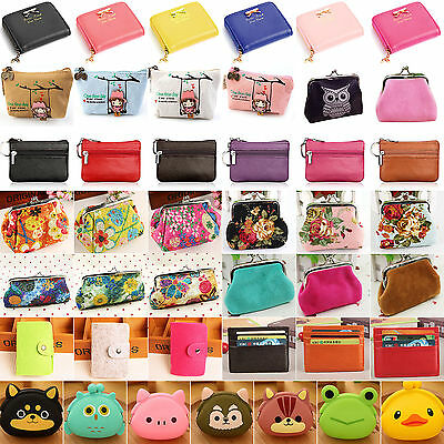 Women Small Change Purse Wallet Mini Money Coin Pouch Key Card Holder Clutch Bag