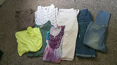 Lot Womens Clothes Jeans Capris Tops Indigo Thread Old Navy Xl Nwot