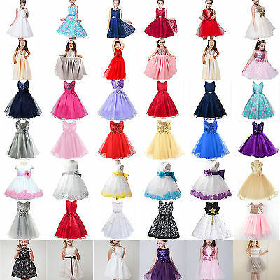 Flower Princess Dress Toddler Girls Kids Party Wedding Pageant Prom Tutu Dresses