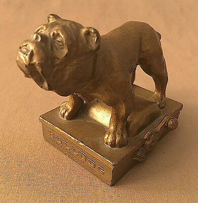 Vintage 1900s BULLDOG Mutual Electric & Machine Co. Detroit ADVERTISING Figure