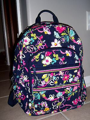 Vera Bradley Ribbons Large Campus Backpack Bookbag