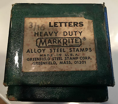 """Mark Rite 3/16"""" Heavy Duty Stamp Key Punches (Letters)"""