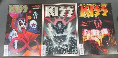 3x KISS 9; A STRAHM B WILSON C PHOTO First Printing Dynamite Comics Kiss HOT