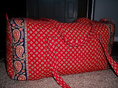Perfect Ln Vera Bradley Americana Red X Large Duffle Bag 26""