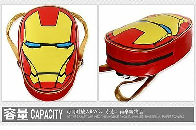 Crazy Toys Avengers Iron Man Backpack Schoolbag Version New