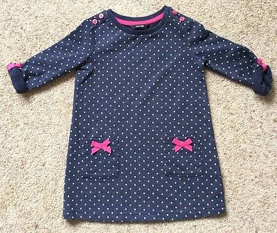 Baby Girls Long Sleeved Dress From George  Age 12-18 Months  Great Cond