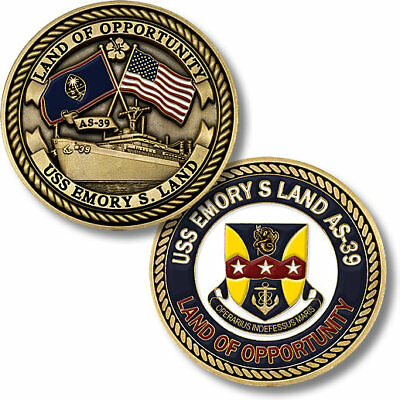 U.S. Navy / USS Emory S. Land (AS-39) - USN Challenge Coin