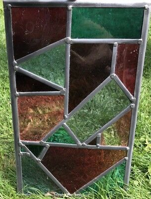 Stained Glass Leaded Window , With Colourful Antique Glass