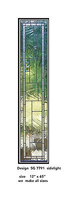 Door & Window Stained Glass sidelight  we make all sizes SG 7791
